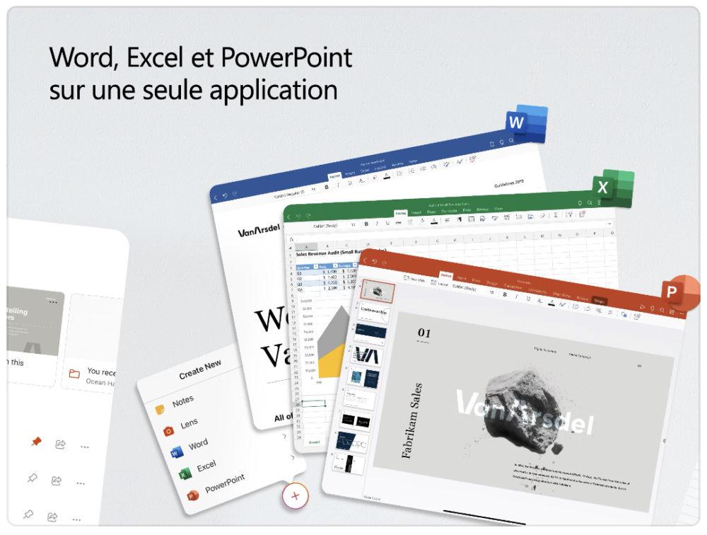 Microsoft Office, lapplication qui réunit Word, Excel et PowerPoint, arrive sur iPad