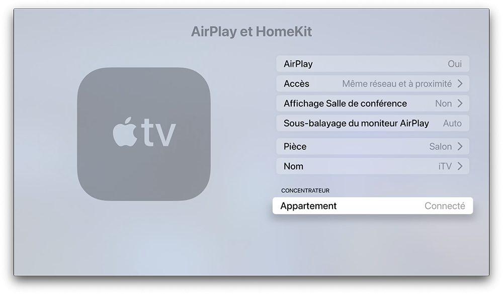 apple tv concentrateur Comment configurer un concentrateur pour contrôler à distance les accessoires HomeKit