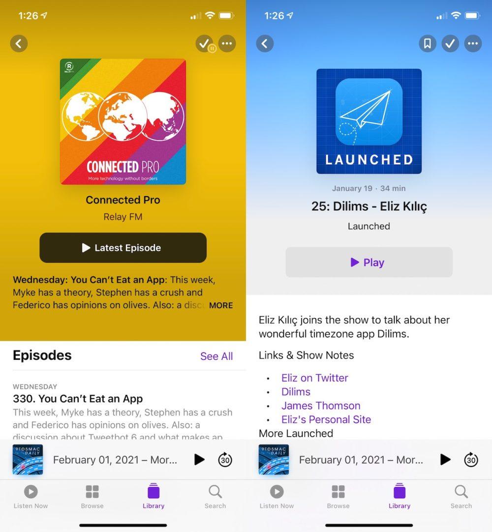 iOS 14.5 Beta 1 Application Podcasts iOS 14.5 bêta 1 : voici la liste des nouveautés retrouvées