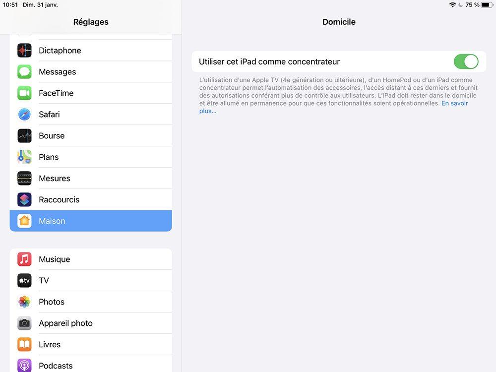 ipad concentrateur Comment configurer un concentrateur pour contrôler à distance les accessoires HomeKit