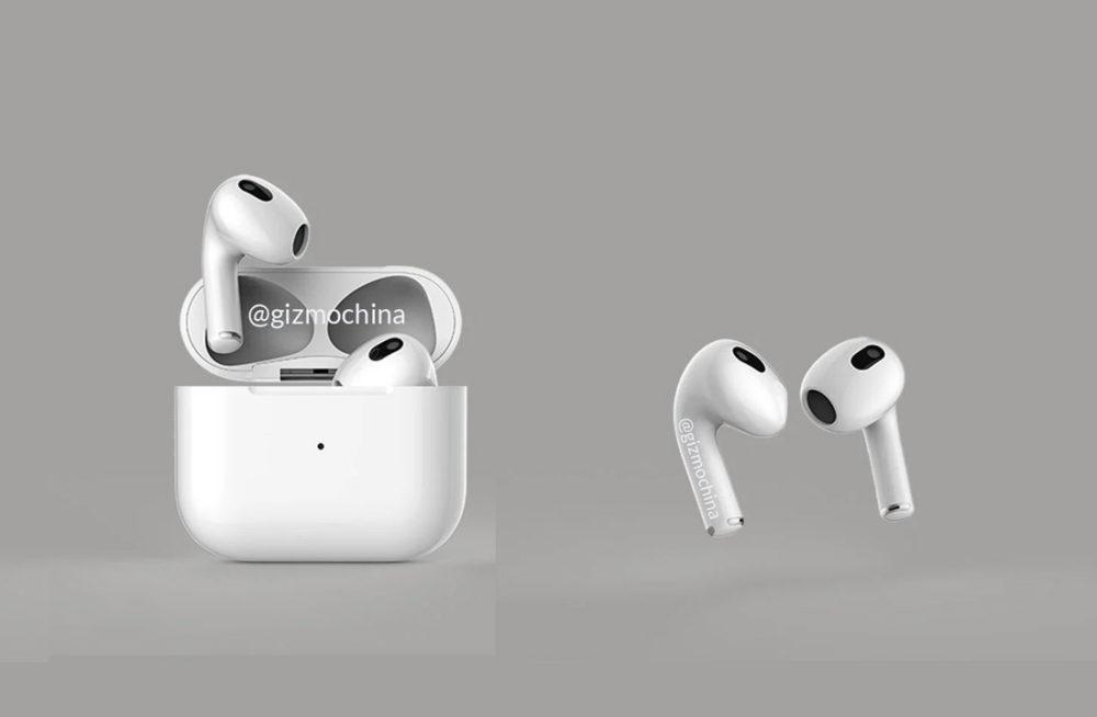 AirPods 3 Design AirPods Pro Rendus iPhone 13, Apple Watch Series 7, AirPods 3, iPad mini 6 et plus pour cet automne