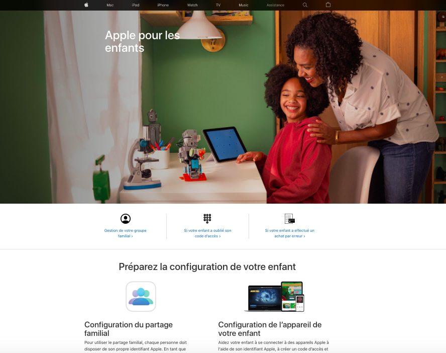 Page Web Apple Pour Les Enfants « Apple pour les enfants », Apple met en ligne une section pour aider les parents