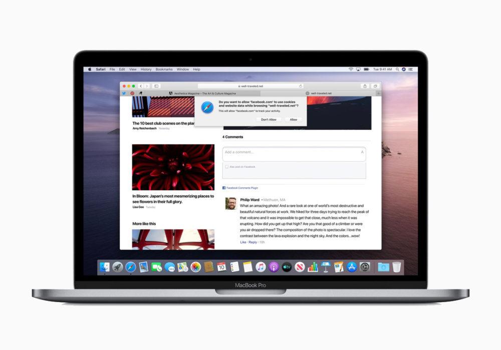 Safari 14 macOS Catalina Apple propose des correctifs de sécurité de Safari 14.0.3 sur macOS Catalina et macOS Mojave