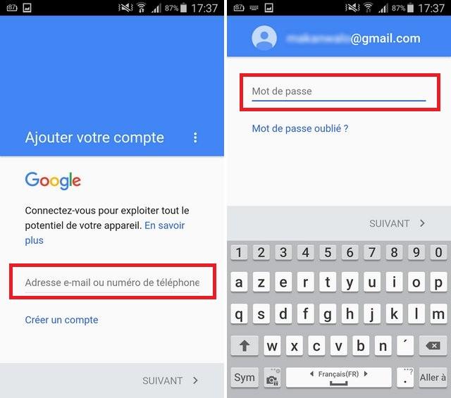 android ajouter compte google Comment faire le transfert de ses contacts, photos et autres données dun iPhone vers Android ?