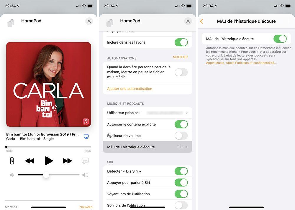 homepod historique ecoute Comment activer ou désactiver l'historique d'écoute de votre HomePod