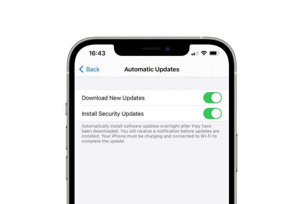 iOS 14.5 Reglage iOS Mise a Jour de Securite Les mises à jour de sécurité pourraient bientôt être publiées séparément des mises à jour iOS
