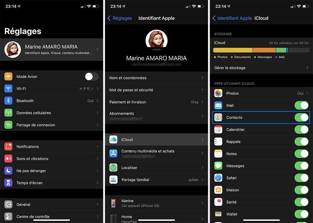 iphone contacts icloud Comment faire le transfert de ses contacts, photos et autres données dun iPhone vers Android ?