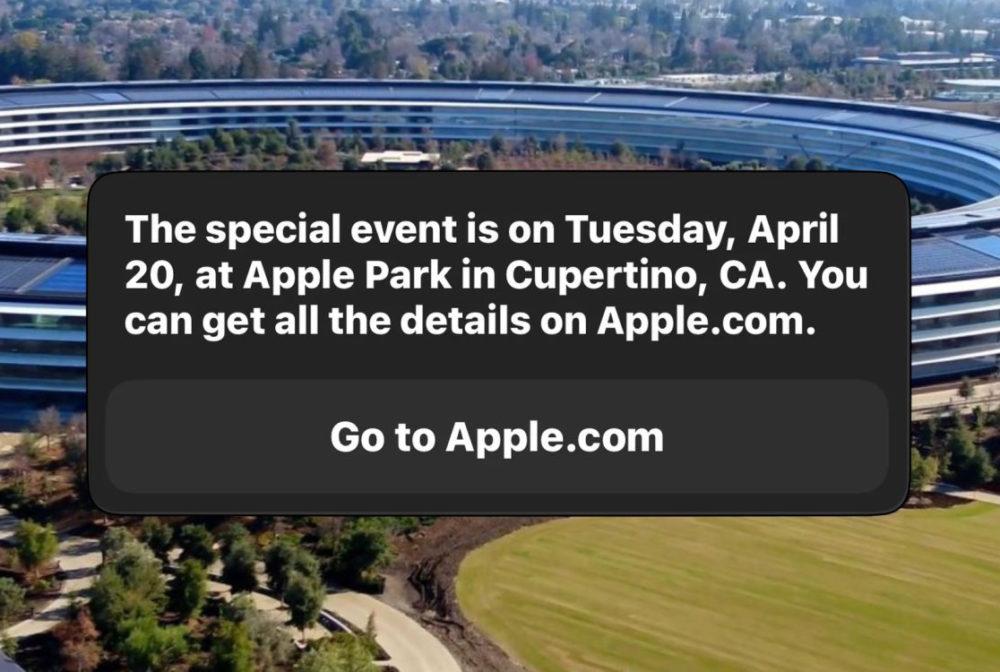 Apple Event March 20 Siri Selon Siri, la prochaine keynote dApple aura lieu le 20 avril prochain