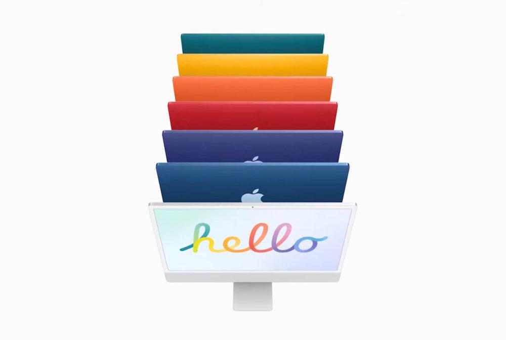 Apple iMac M1 Apple Silicon Apple dévoile officiellement un iMac M1 (Apple Silicon) avec un nouveau design et plusieurs coloris