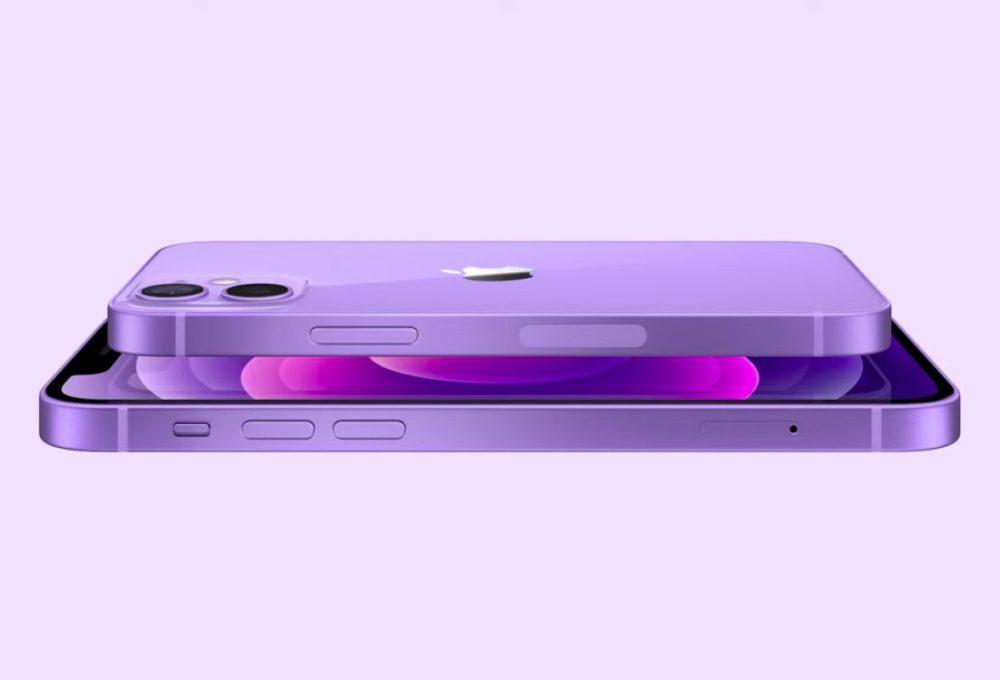 Apple iPhone 12 Mauve [Keynote avril 2021]   iPhone 12 : Apple dévoile un nouveau coloris mauve (Purple)