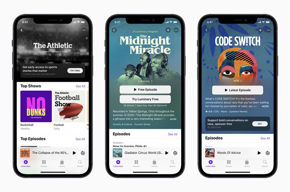 Apple iPhone 12 Podcasts Les abonnements aux podcasts dApple sont reportés pour le mois de juin
