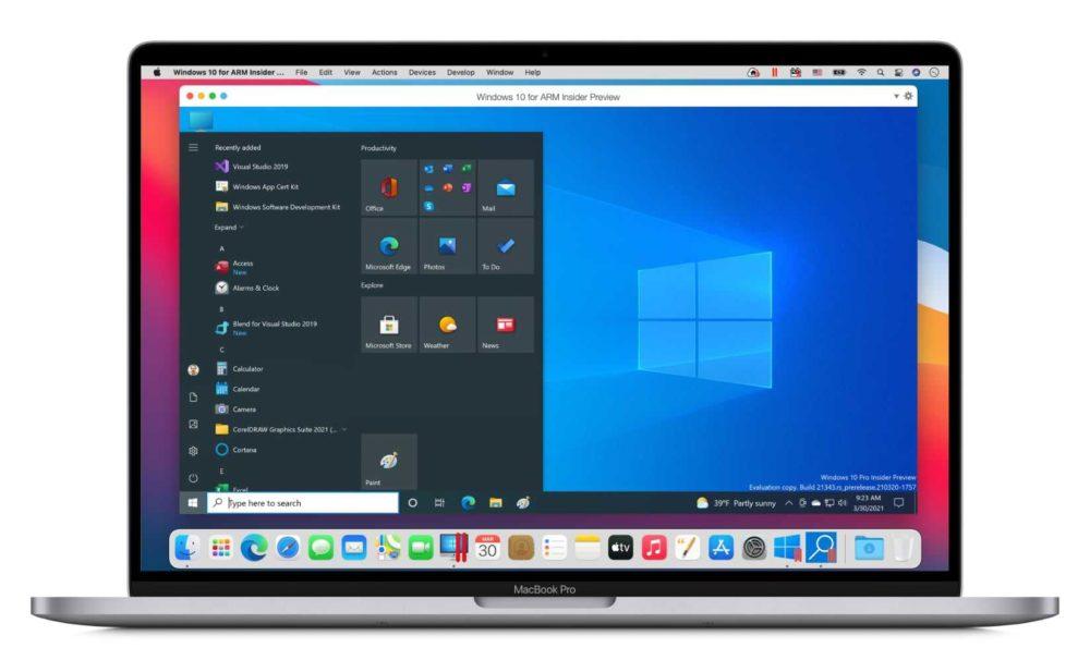 Parallels Dekstop Mac M1 MacBook Pro Parallels Desktop se met à jour et ajoute le support des Mac M1 (Apple Silicon)