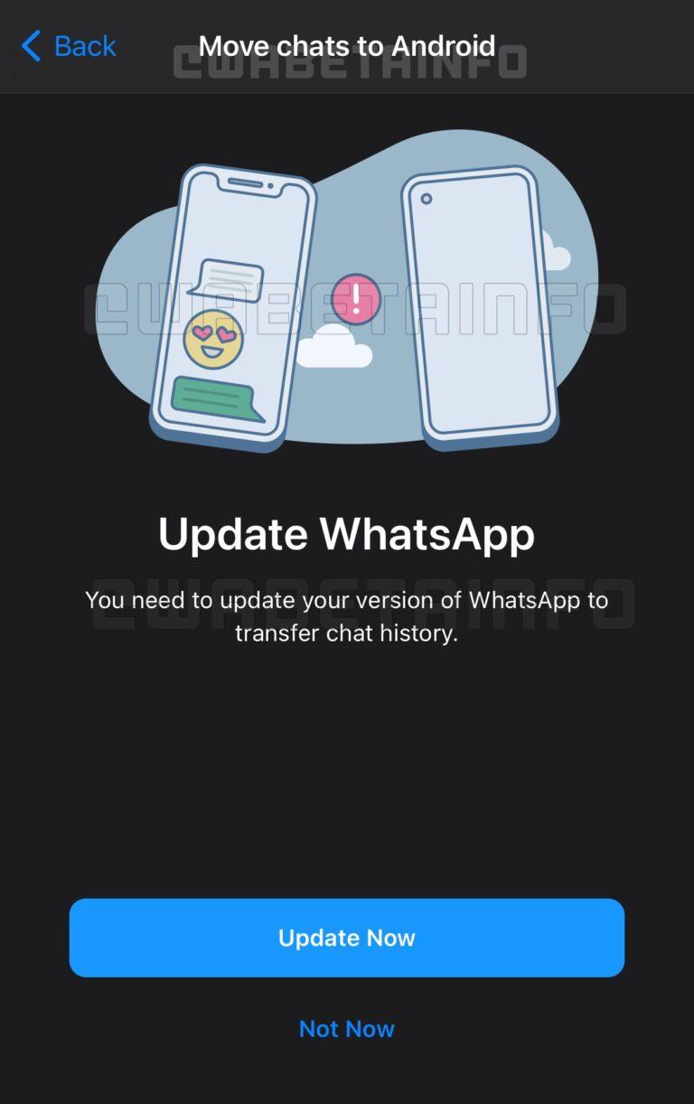Transfert Conversation iOS Android WhatsApp va proposer le transfert de conversations entre iOS et Android