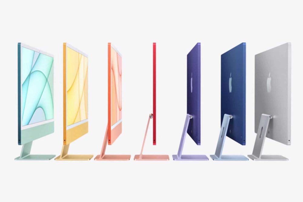 iMac 24 Pouces Apple M1 Coloris Apple proposera bientôt à lachat dans les Apple Store physiques tous les coloris de liMac M1