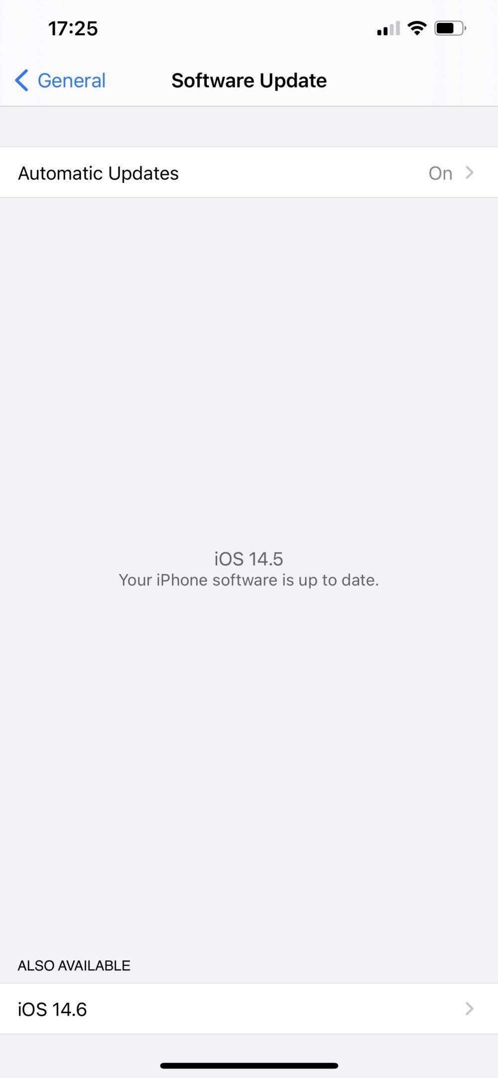 iOS 14.5 Release Candidate iOS 14.6 et iPadOS 14.6 : Apple déploie la bêta 1 publique
