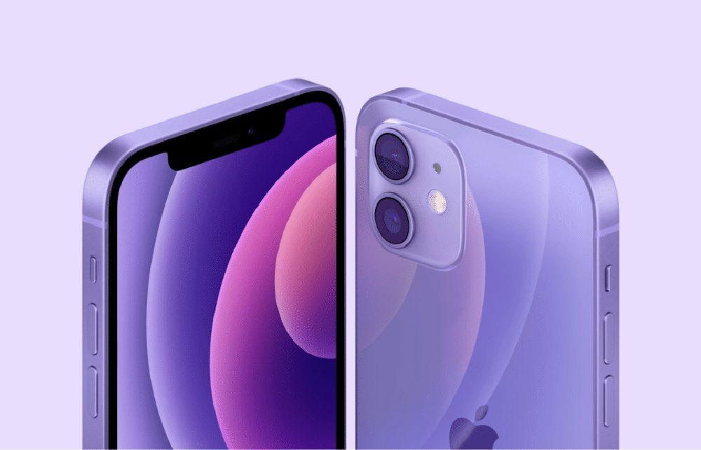 iPhone 12 Mauve [Keynote avril 2021]   iPhone 12 : Apple dévoile un nouveau coloris mauve (Purple)