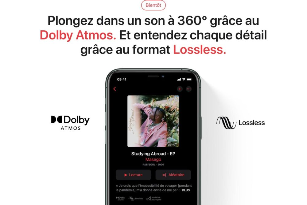 Apple Music Lossless Dolby Atmos Apple Music sur Android supportera le Lossless (audio sans perte) au lancement, mais pas le Dolby Atmos