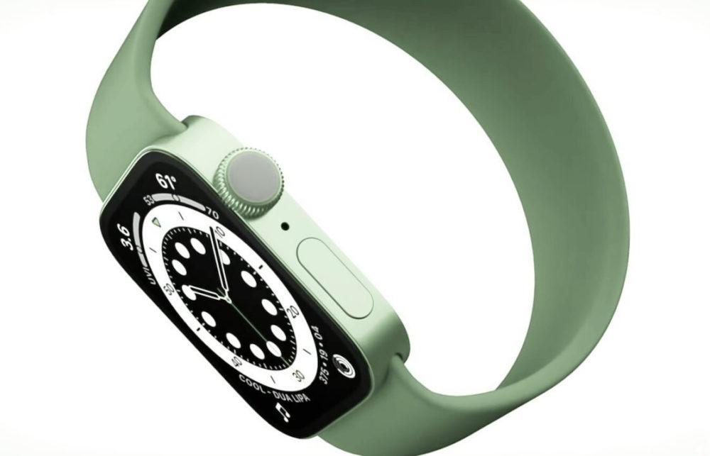 Apple Watch Series 7 Concept Apple Watch Series 7 : des bords plats et une nouvelle couleur verte ?