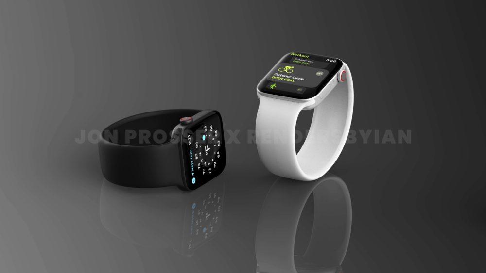 Apple Watch Series 7 Noir Argent Le design de lApple Watch Series 7 révélé avec des rendus