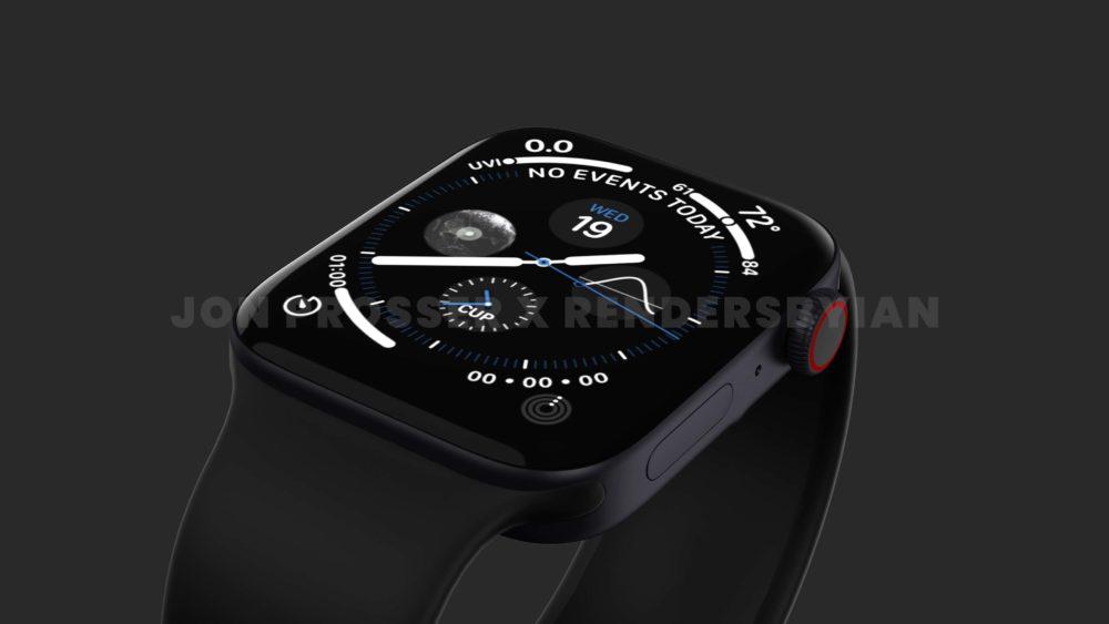 Apple Watch Series 7 Noir Le design de lApple Watch Series 7 révélé avec des rendus
