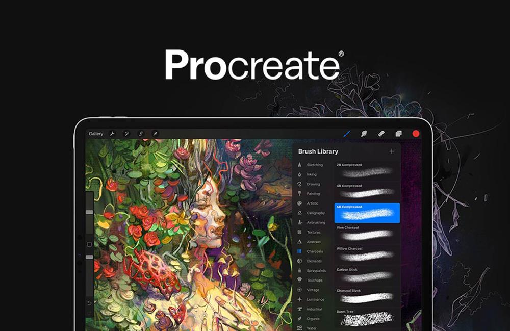 Procreate iPad Pro Procreate est à jour et se veut compatible avec les iPad Pro M1 (Apple Silicon)
