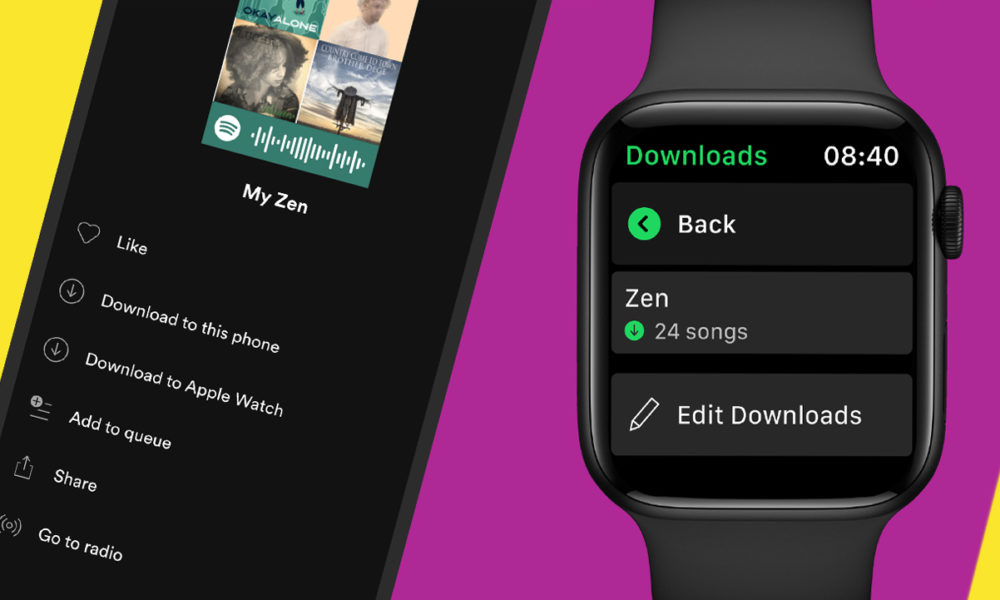 Spotify Telecharger Musiques Apple Watch Spotify sur Apple Watch ajoute le téléchargement et lécoute hors connexion
