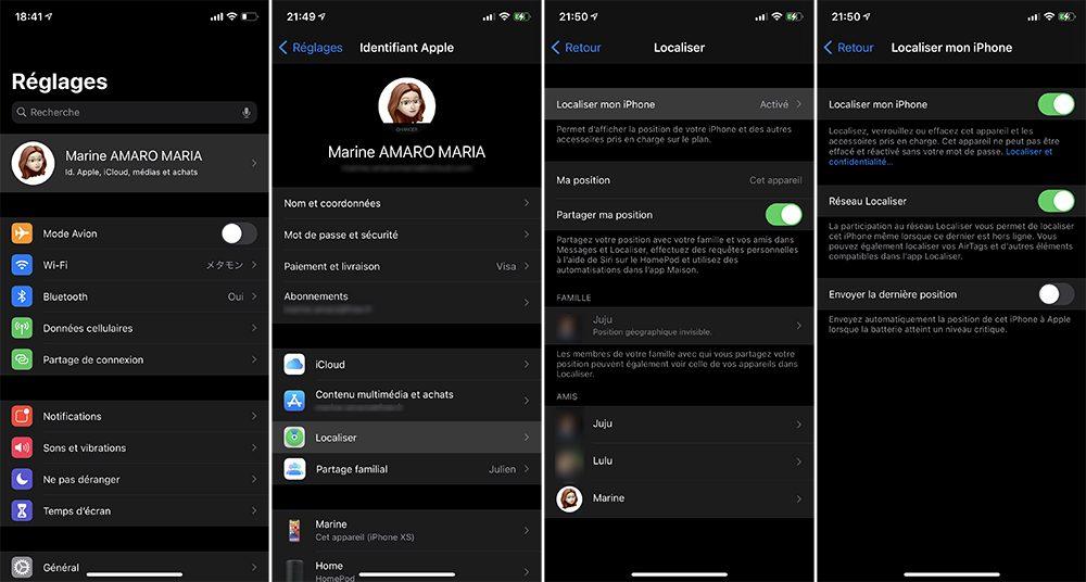 activer localiser iphone Que faire avant de vendre son iPhone