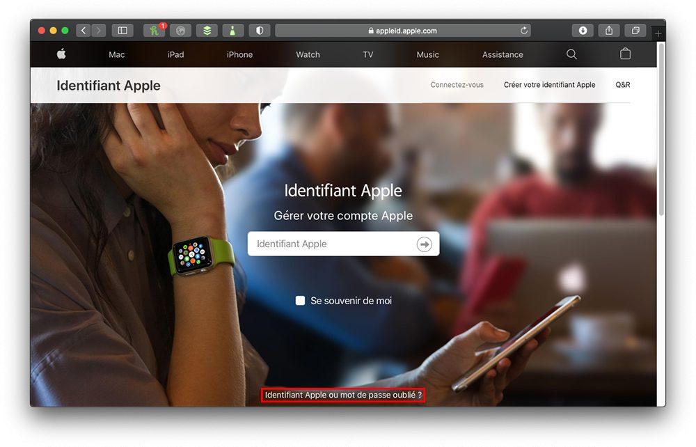 appleid mdp oublie Comment retrouver le mot de passe perdu de lidentifiant Apple ?