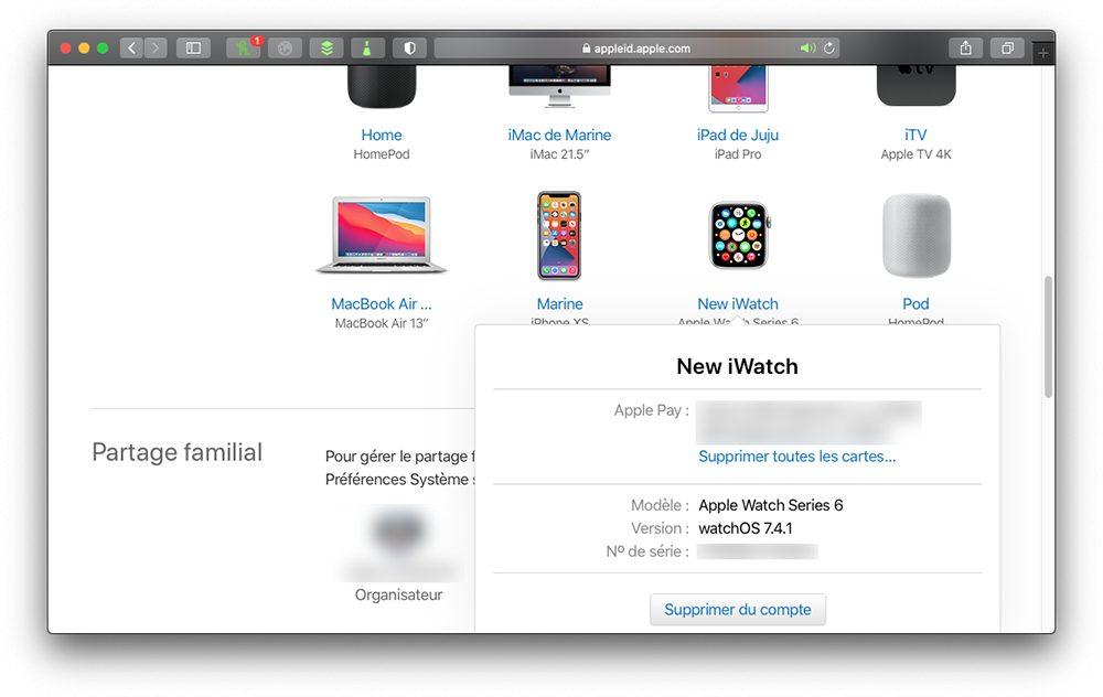 appleid supprimer apple watch compte Que faire avant de vendre son Apple Watch