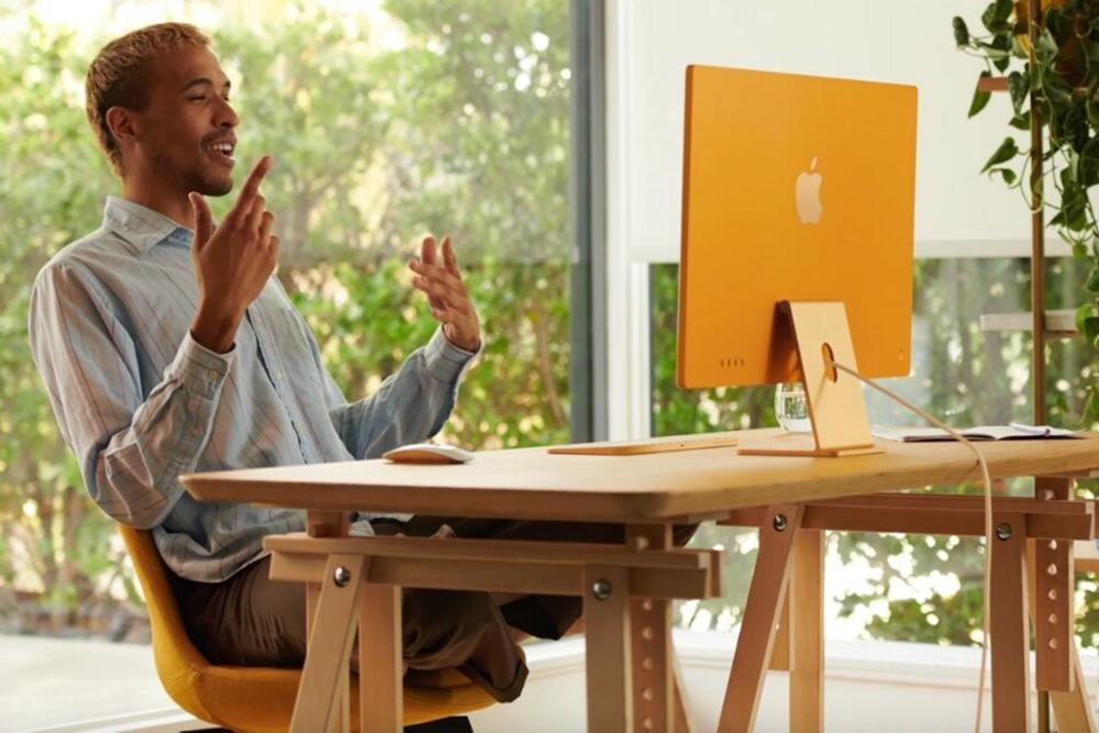 iMac M1 2021 Jaune LiMac M1 (24 pouces) est 56% plus puissant que liMac 21,5 pouces Intel