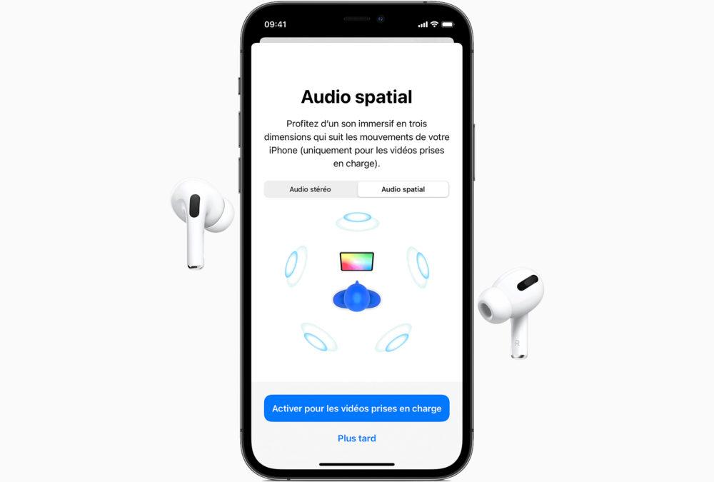iPhone 11 Pro Airpods Pro Audio Spatial Apple Music ajoute Lossless Audio (audio sans perte) et lAudio Spatial sans frais supplémentaires