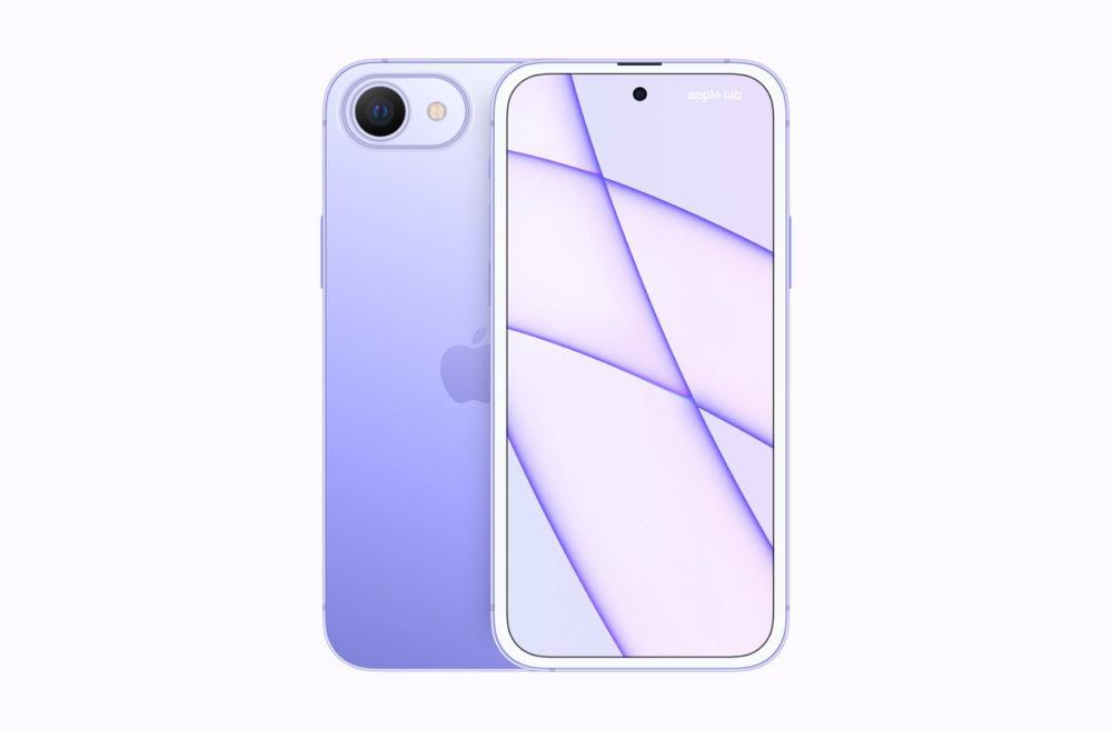 Un concept iPhone SE 2023 montre un trou dans lécran et plusieurs coloris
