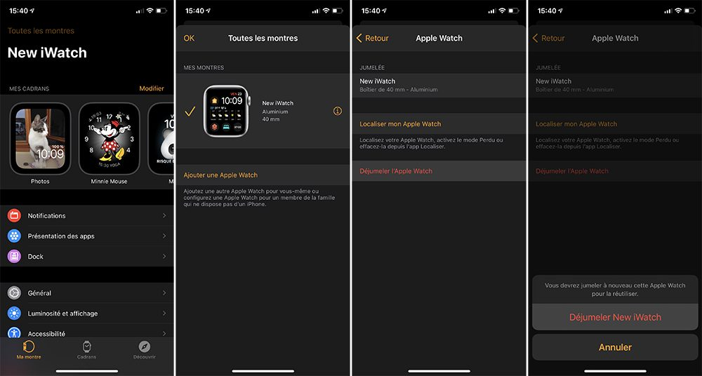 iphone dejumeler apple watch Que faire avant de vendre son Apple Watch