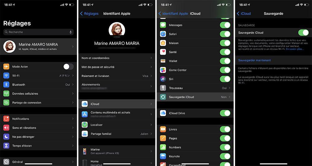 iphone sauvegarde icloud Que faire avant de vendre son iPhone