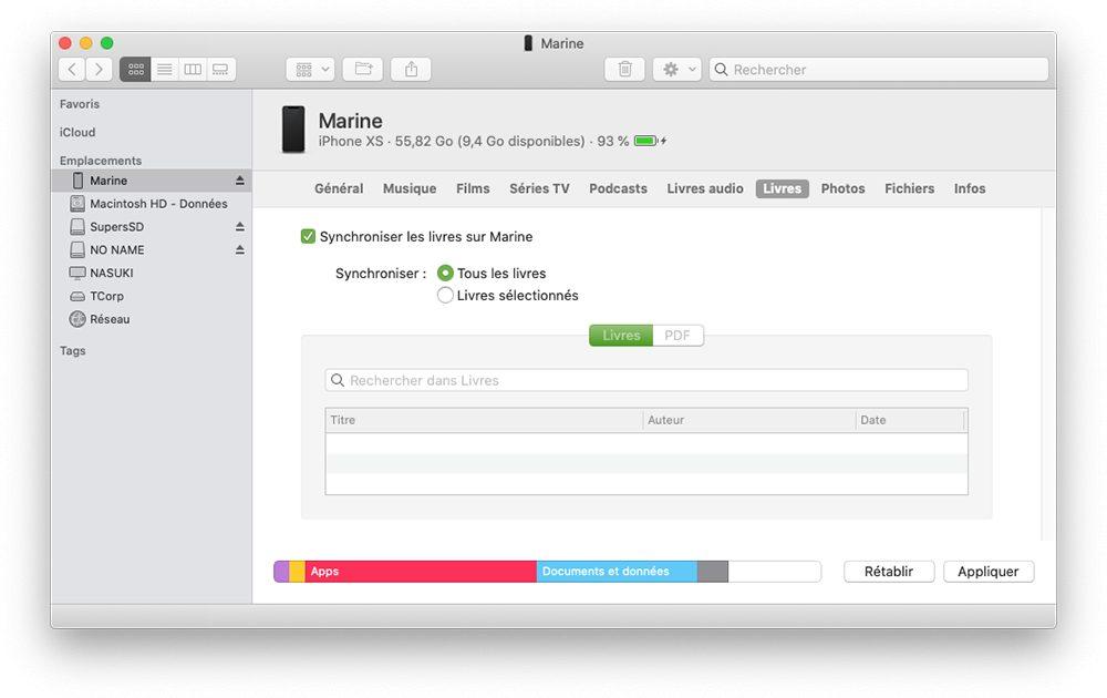 mac finder transferer livres Comment transférer ses données dAndroid vers un iPhone ?