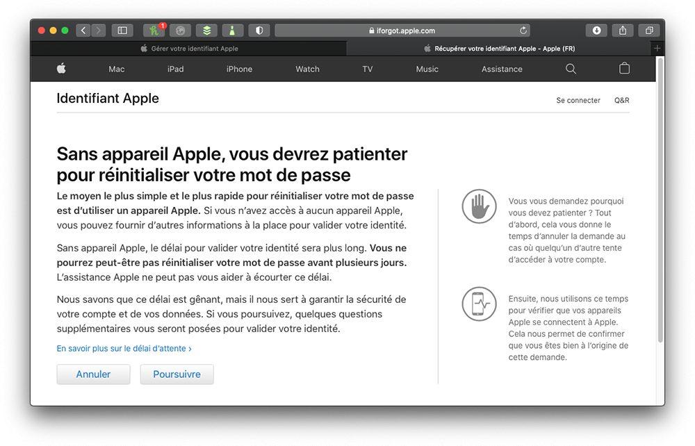 oublie mdp sans idevice 1 Comment retrouver le mot de passe perdu de lidentifiant Apple ?