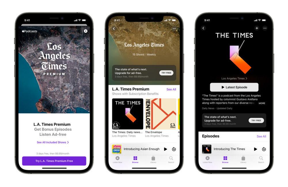 Apple Podcasts iPhone 12 Les abonnements Apple Podcasts sont désormais disponibles