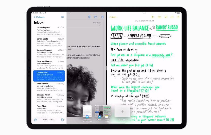 Apple iPadOS 15 Multitache [WWDC 2021]   iPadOS 15 : multitâches plus intuitives, écran daccueil repensé, des widgets intégrés et plus