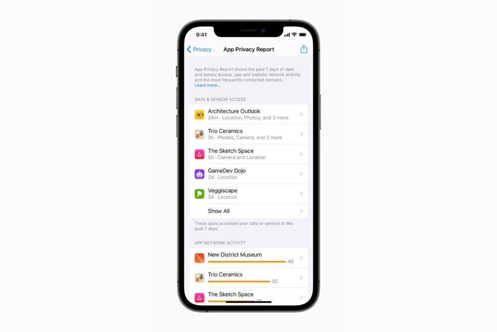 Apple iPhone 12 Pro iOS 15 Confidentialite [WWDC 2021]   iOS 15 : partage de médias sur FaceTime, Live Text, améliorations dans Plans, Météo, Wallet...