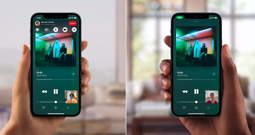 Apple iPhone 12 Pro iOS 15 FaceTime SharePlay [WWDC 2021]   iOS 15 : partage de médias sur FaceTime, Live Text, améliorations dans Plans, Météo, Wallet...