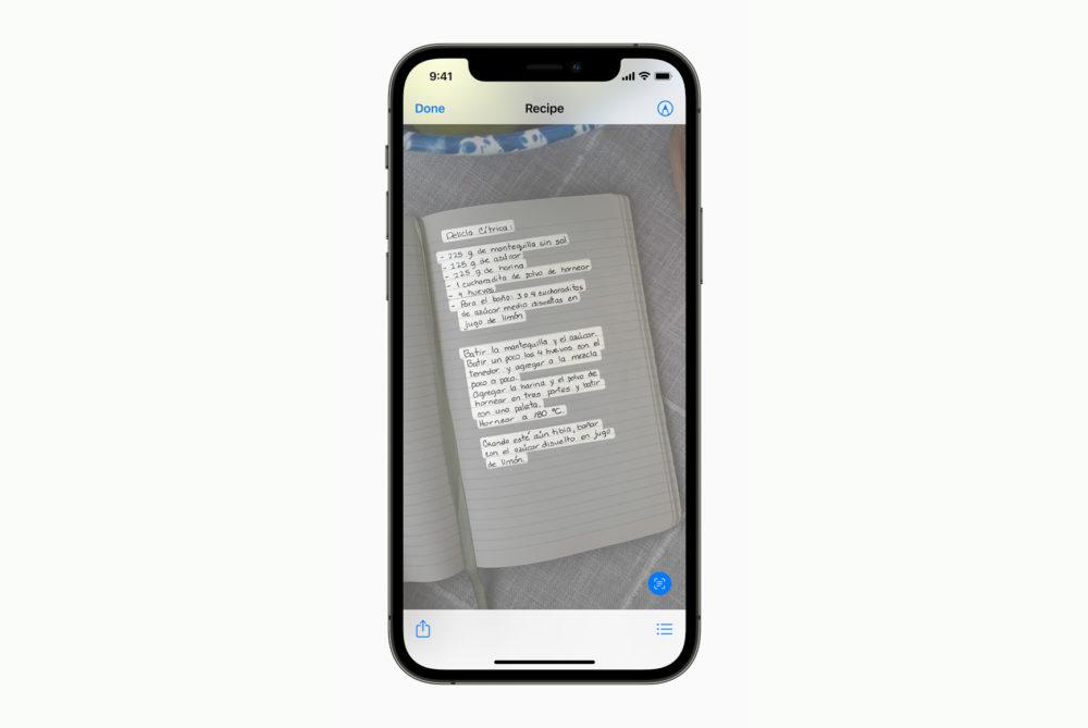 Apple iPhone 12 Pro iOS 15 Live Text Quicklook [WWDC 2021]   iOS 15 : partage de médias sur FaceTime, Live Text, améliorations dans Plans, Météo, Wallet...
