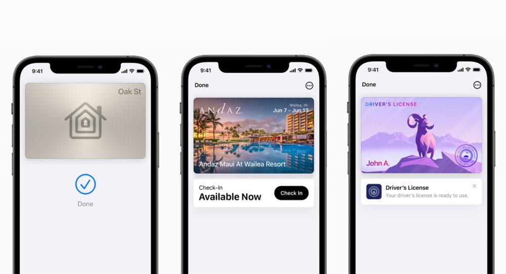 Apple iPhone 12 Pro iOS 15 Wallet Cles de Maison [WWDC 2021]   iOS 15 : partage de médias sur FaceTime, Live Text, améliorations dans Plans, Météo, Wallet...