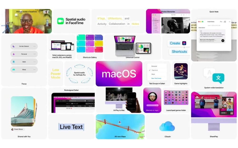 Apple macOS 12 Monterey Nouveautes WWDC 2021 [WWDC 2021]   macOS 12 Monterey : Universal Control, SharePlay, Raccourcis et plus encore