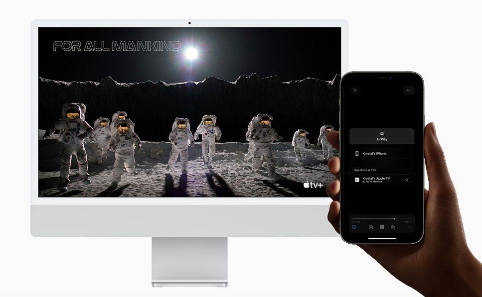 Apple macOS Monterey AirPlay [WWDC 2021]   macOS 12 Monterey : Universal Control, SharePlay, Raccourcis et plus encore