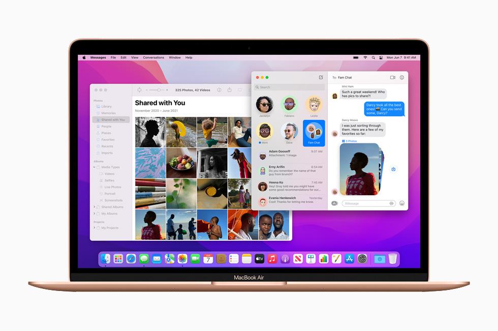 Apple macOS Monterey FaceTime Partage Avec Vous [WWDC 2021]   macOS 12 Monterey : Universal Control, SharePlay, Raccourcis et plus encore