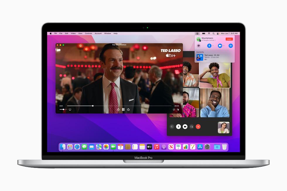 Apple macOS Monterey FaceTime SharePlay [WWDC 2021]   macOS 12 Monterey : Universal Control, SharePlay, Raccourcis et plus encore