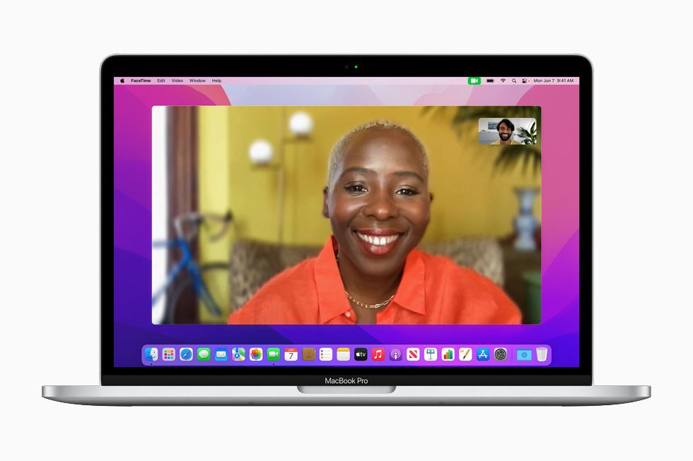 Apple macOS Monterey FaceTime [WWDC 2021]   macOS 12 Monterey : Live Text, SharePlay, Universal Control, Raccourcis et plus