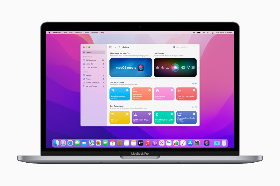 Apple macOS Monterey Raccourcis [WWDC 2021]   macOS 12 Monterey : Universal Control, SharePlay, Raccourcis et plus encore
