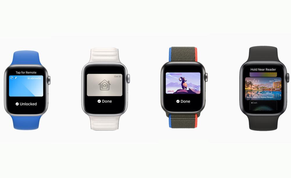 Apple watchOS 8 CarKey Wallet WWDC 2021 [WWDC 2021]   watchOS 8 : version repensée de lapp Respirer, nouveaux exercices Tai Chi, AssistiveTouch, compatibilité AirTag...
