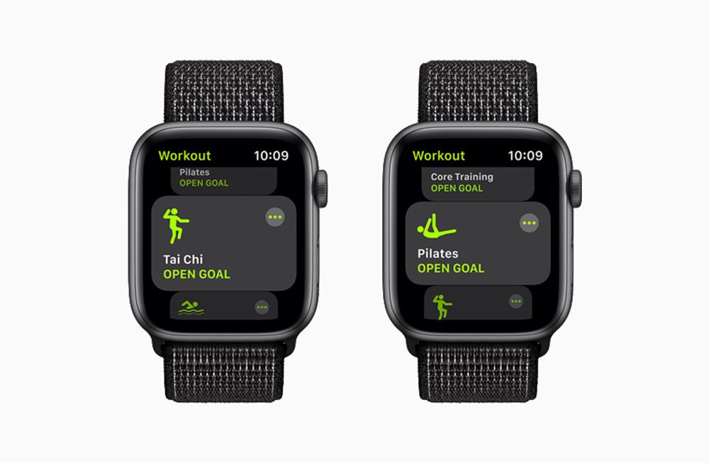 Apple watchOS 8 Nouveaux Exercices [WWDC 2021]   watchOS 8 : version repensée de lapp Respirer, nouveaux exercices Tai Chi, AssistiveTouch, compatibilité AirTag...